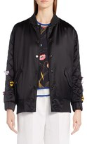 Fendi Women's Floral Embellished Bomber Jacket