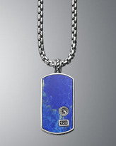 David Yurman Lapis Classic Dog Tag