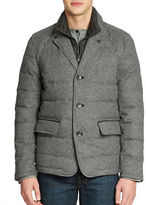 Vince Camuto Quilted Flannel Jacket