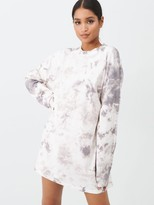 Missguided Tie Dye Sweater Dress - Nude