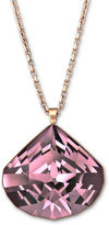 Swarovski Necklace, Rose Gold PVD Antique Pink Crystal Oblong Teardrop Pendant Necklace