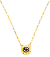 Gurhan Black Diamond, 24K Yellow Gold, and Sterling Silver Pendant Necklace