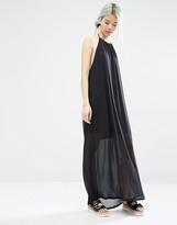Monki Halter Neck Side Split Dress