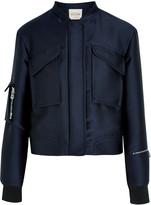 Tod's Duchesse-satin bomber jacket