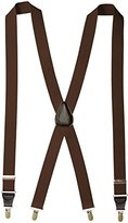 Florsheim Men's Clip On Suspenders with Leather Drop Clip 46 Inch