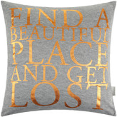 "Get Lost Bloomingville - ""Find a Beautiful Place and Cushion - 40x40cm"