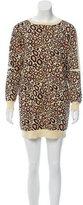 Kenzo Leopard Pattern Sweater Dress