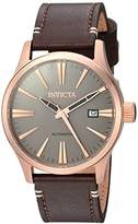 Invicta Men's 'I-Force' Automatic Stainless Steel and Leather Casual Watch