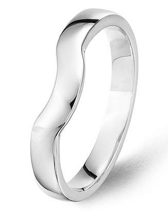 Marisota 9 Carat Gold Shaped Fitted Wedding Band