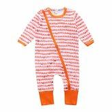"Kids Tales ""Baby Girls"" Striped 1 Piece Pajamas Romper"