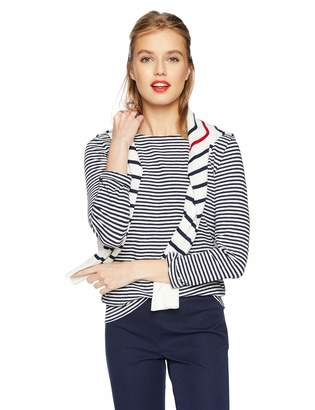J.Crew Mercantile Women's Long-Sleeve Striped Boatneck T-Shirt