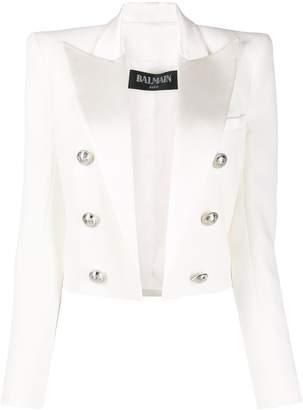 Balmain structured cropped jacket