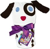 Sozo Baby Neutral Dalmatian Swaddle Blanket & Cap Set