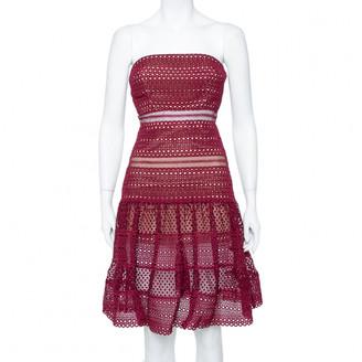 Self-Portrait Burgundy Polyester Dresses