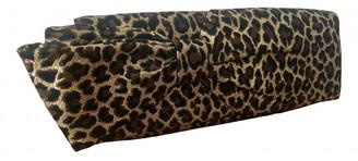 Christian Louboutin Gold Cloth Clutch bags