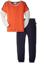 Splendid Twofer Top With Jogger Set (Toddler/Kid) - Orange - 3T