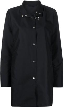 Fay High-Neck Clasp-Fastening Parka Coat