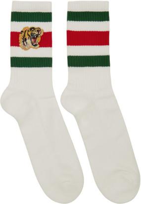 Gucci White Tiger Socks