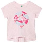 Benetton Light Pink Cotton Boxy Fit T-Shirt