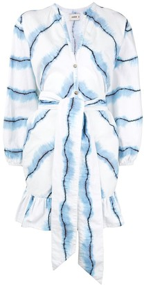 SUBOO Tie-Dye Wrap Mini Dress