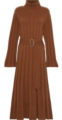 Each X Other Belted Ribbed Merino Wool And Cashmere-blend Turtleneck Midi Dress