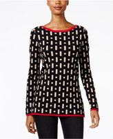 Charter Club Patterned Boat-Neck Sweater, Only at Macy's