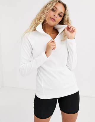 Columbia Glacial half zip fleece in white