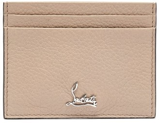 Christian Louboutin Kios Logo Leather Cardholder - Womens - Ivory