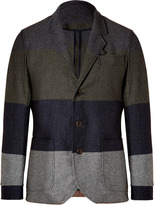 Oliver Spencer Wool-Cotton Plymouth Jacket in Hindscarth Multi