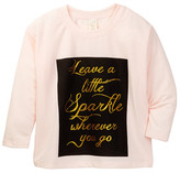 Over The Top Leave A Little Sparkle Graphic Top (Big Girls)