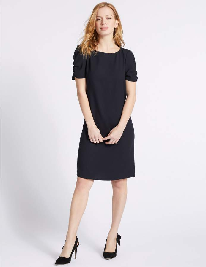 Marks and Spencer PETITE Ruched Sleeve Tunic Dress