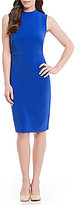 Alex Marie Mia Mock Neck Sleeveless Dress