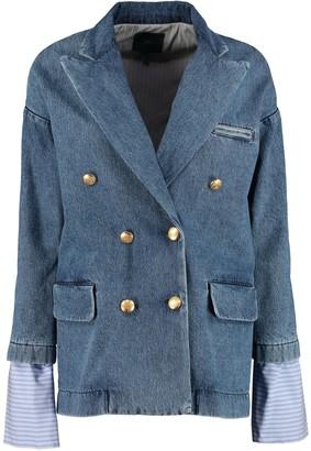 Jejia Denim Double-breasted Jacket