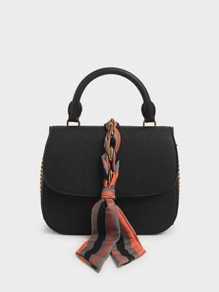 Charles & Keith Braided Front Flap Bag