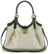 Brahmin Elisa Tri-Color Leather Hobo