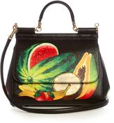 Dolce & Gabbana Sicily medium fruit-print leather tote