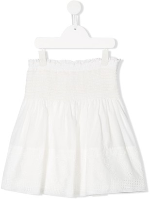 Chloé Kids TEEN ruched waist skirt