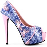 Show Story Butterfly Print Club Party Evening Stiletto Pumps,LF80813BP40,9.5US