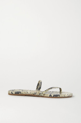 TKEES Sarit Snake-effect Leather Sandals - Snake print