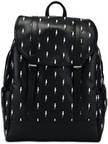 Neil Barrett bolts embroidered backpack