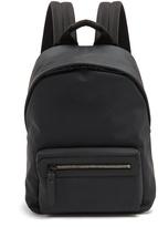Lanvin Front-pocket rubberised-leather backpack
