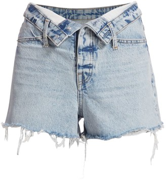 Alexander Wang Bite Flip High-Rise Denim Shorts