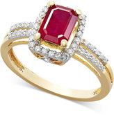 Macy's Ruby (1 ct. t.w.) and Diamond (1/5 ct. t.w.) Ring in 14k Gold
