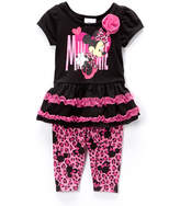Children's Apparel Network Minnie Mouse Black Tunic & Leggings - Infant