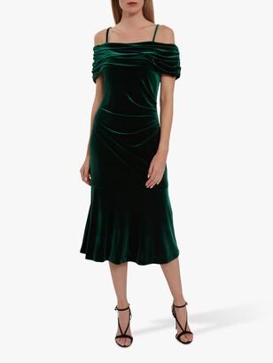 Gina Bacconi Maelle Off Shoulder Velvet Midi Dress
