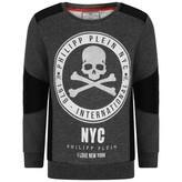 Philipp Plein Philipp PleinBoys Grey NYC Sweatshirt
