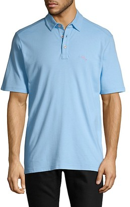 Tommy Bahama Logo-Patch Cotton-Blend Polo