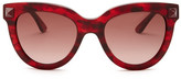 Valentino Women&s Rockstud Cat Eye Sunglasses