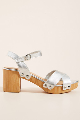 Silent D Byron Platform Heels By in Silver Size 36
