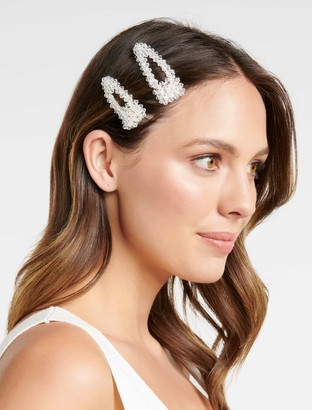 Forever New Kayley Two-Pack Snap Hair Clips - Crystal - 00